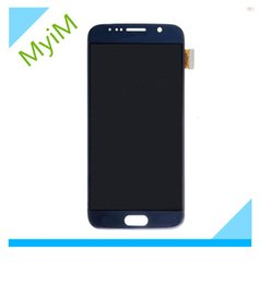 Wholesale Lcd For Galaxy Phone - Mobile phone Repair parts LCD replacement for samsung Galaxy S6 original LCD Display home button free shipping