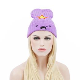 Sombreros de gorro púrpura online-Mujeres de moda al aire libre Beanie rayas hip hop tejer sombrero coreano moda lana sombrero púrpura Cap Head Headdress Head Warmer