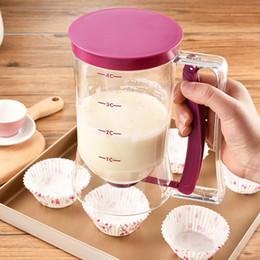 Wholesale Measuring Dispenser - Batter Dispenser Cake Kitchen Accessories Cooking Tools Cream Speratator Muffins Baking Waffles Batter Dispenser Measuring Cup Baking Tools