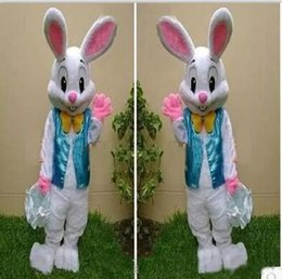 2017 PROFESSIONAL EASTER BUNNY MASCOT COSTUME Bugs Rabbit Hare Adulti Fancy Dress Cartoon Suit Fabbrica diretta, Spedizione Gratuita da