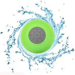 Wholesale Sound Box For Cars - Portable Waterproof Wireless Bluetooth Speaker Shower Car Handsfree Receive Call mini Suction IPX4 speakers box player Mic Promotion