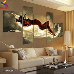Wholesale Sexy Paint Handmade - Nude Sexy Girl Canvas Painting Art Real Handmade Modern Abstract Oil Painting On Canvas Wall Art , Bedroom Decoration JYJHS008