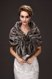 Wholesale Wrap Jackets For Women - Black Bolero Jacket for Women Different Occasions 2018 New Arrival Warm Winter Faux Fur Shawl for Mother Fashion Wraps CPA914
