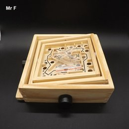Wholesale Wood Maze Puzzle Game - Big Rotary Knob Wood Labyrinth Toys Wooden Maze Puzzle Game For Kids Brain Teaser Game Teaching Toy Christmas Gift