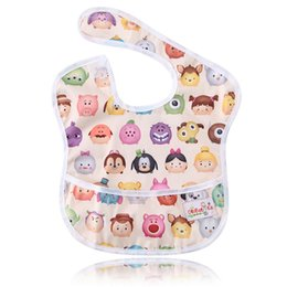 Wholesale Hook Loop Dots - Ohbabyka Reusable Infant Baby Feeding Pocket Superbib Adjustable Neck Closure Waterproof Hook-Loop Kids Bibs Unisex 5PCS Lot