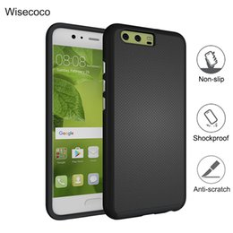 Wholesale Water Resistant Case Huawei - Anti-slip armor case hard PC+silicon TPU cover for huawei p10 p9 plus mate 9 Honor 8 Lite P8 lite 2017 Nova phone cases