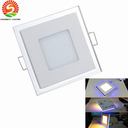 Wholesale Modern White Ceiling Lights - Free Shipping Double color 10W 15W 20W LED Panel Light With Super Bright SMD2835, AC85~265V, Modern LED Ceiling Lights