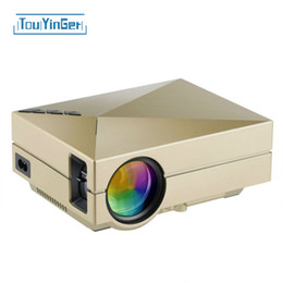 Wholesale Hd Video Movies - Wholesale- Portable GM60 MINI LED Projector For Video Games TV SD projektor FULL HD Home AND OUTDOOR Theater watch hd movies online free