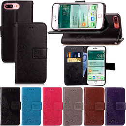 Wholesale Leather Flip Iphone 4s Cases - Premium PU Leather Flip Fold Wallet Case with [ID&Credit Card Slot] for iPhone 5 5s 5c 7 6 Plus & 6S Plus 5.5 Inch 4.7 inch TOUCH 5 6 4 4s