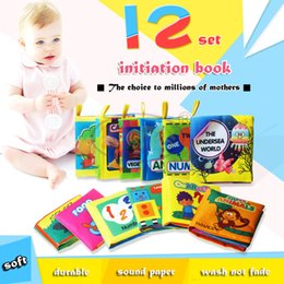 Wholesale English Books For Children - CongMingGu Baby Cloth Book Children Kids Educational Toys Soft Fabric Animals English Learning Story Quiet Book For Newborn Baby