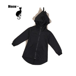 Wholesale Boys 3t Sweater - Dinosaur sweater coat 2016 spring autumn children clothing kids boys girls cute long-sleeved hooded outwear jacket