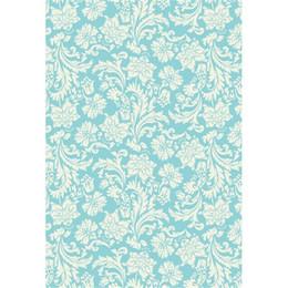 Damast fotografie hintergrund online-Türkis-blaue Wand-weißer Blumendamast-Fotografie-Hintergrund-Vinylbaby-neugeborener photographischer Tapeten-Studio-Fotoaufnahme-Hintergrund