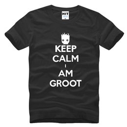 Wholesale Army Film - Men's Film The Galaxy Guard Keep Calm I AM GROOT t-shirt fashion t shirts for men
