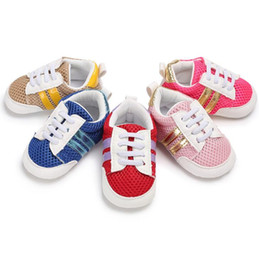 Wholesale Cloth Baby Shoes Boy - Free shipping casual baby sports shoes!Net cloth unisex Casual toddler shoes,0-18 M newborn infant walking shoes,boy shoes.9pairs 18pcs.SX