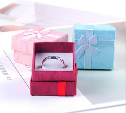 Wholesale Earrings Stud Box - Free Shipping Jewelry Storage Paper Box Multi colors Ring Stud Earring Packaging Gift Box For Jewelry 4*4*3 cm G190