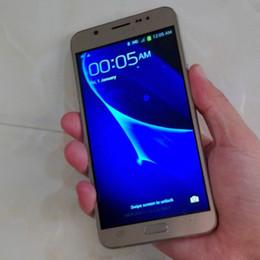 Wholesale Digital Mini Radio - Goophone J7 Cellphone Dual Sim Quad Core 1GB RAM 8GB ROM Android 6.0 64bit 5.5 Inch 1280*720 8MP Unlocked 3G Smart Mobile phones
