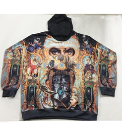 Wholesale Hoody Printing - 2 Styles Real USA Size King of Pop - Michael Jackson 3D Sublimation print Hoody   Hoodie Plus Size