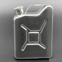 Wholesale Used Stainless Tank - Stainless steel flask Portable outdoor hip flask Personality barrel shape capacity 5oz hip flask Can be used as oil tank