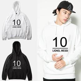 2019 suéter del fútbol del chándal del hombre Lionel Messi # 10 sudaderas con capucha de moda de fútbol hombres camiseta de chándal delgado, wy0002