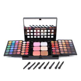 Brilho labial 24 cores on-line-78 Cor Paleta Da Sombra 48 Sombra + 24 Lip Gloss + 6 Fundação pó Pó Concealer Maquiagem Set Brilho à prova d 'água