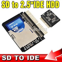 "Wholesale Ide Sdhc Adapter - Secure Digital SD SDHC SDXC MMC Memory Card to IDE 2.5"" 2.5 Inch 44P 44 Pin Male Adapter SD 3.0 Converter"