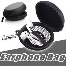Wholesale Earbud Cases - High Quality Earphone Storage Carrying Bag headphone Earbud Case Cover For USB Cable Mini Zipper Key Coin Case Without Package