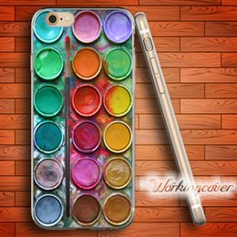 Wholesale iphone 5c color cases - Coque Color Painting Box Soft Clear TPU Case for iPhone 7 6 6S Plus 5S SE 5 5C 4S 4 Case Silicone Cover.