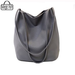 ladies cross body handbags wholesale Promo Codes - Wholesale- 2016 New Bucket Designer Ladies Cross Body Bags Designer Women Leather Handbags Black Bucket Shoulder Bags Tote Women Bag C1437