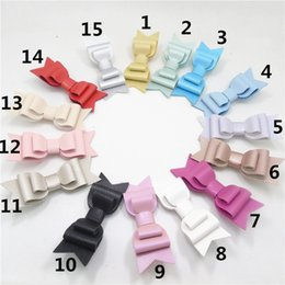 Wholesale Synthetic Hair Bow Clip - 2017 Three Layers Synthetic Leather Bow Hair Clip 9cm Fashion Toddler Teen Barrettes Textured Children Swallow Tail Hairpin