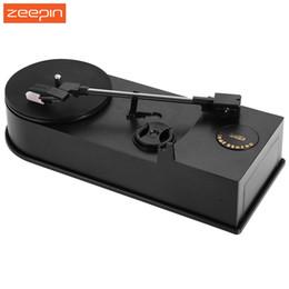Wholesale Phonograph Turntable - Zeepin EC008B USB Mini Phonograph Turntable Record Audio Player Vinyl Turntable to MP3 WAV CD Converter Support 33 45PRM