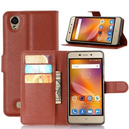 Wholesale Water Blade - Wholesale- For ZTE Blade X3 Case Flip Wallet PU Leather Phone Cases For ZTE Blade X3 Blade D2 Blade T620 Covers Card Slot Stand Phone Bags