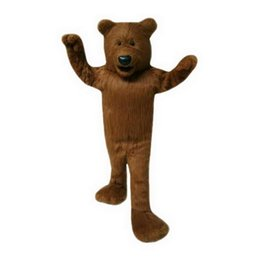 Wholesale Characters Cartoon Mascot Costumes - High quality Plush brown bear Mascot Costumes Cartoon Character Adult Sz 100% Real Picture