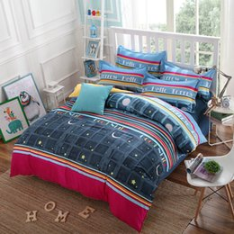 Wholesale Bright Bedding Sets - Wholesale- New Cotton Bedding Sets Very Soft Star Bright Night Sky Duvet Cover Pillowcase Bed Sheet 3 4 Pcs King Queen Full Twin