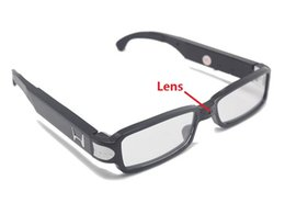 Wholesale Hd Eyeglass Camcorder - HD 1280*960 Glasses Camera Spy Eyeglasses mini camcorder Eyewear Security Camera DVR Hidden pinhole Camera Support up to 32GB in retail box