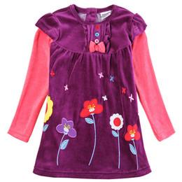 8f355537ee80 novatx H5613 venta al por menor fucsia bebé ropa de manga larga niños niños  niña para el vestido de fiesta hermosa envío gratis casual