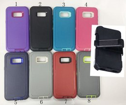 Wholesale Iphone Plastic Holster - Holster Belt Clip TPU PC Robot 3 in 1 Defender Case Rugged Armor Cover for Iphone 5 6 7 plus 6S plus Galaxy S8 S8 PLUS S7 S6 edge NOTE 5