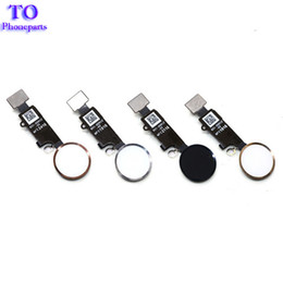 Wholesale Iphone Cable Key - New 7G 7 Plus Home button Flex Cable For iPhone 7 7 8 8 plus Home Key Cap Flex Assembly Replacement Parts