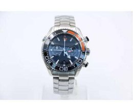 Wholesale Apollo Stainless Steel - 3 Styles 44MM Masculine Mens Quarz Chronograph Wristwatches The Crew of Apollo 8 Watches Moon Watch Ceramic Bezel Butterfly Buckle H03
