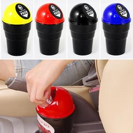 Wholesale Auto Trash Holder - Wholesale-2016 Car styling Convenient Mini Auto Car Home Trash Rubbish Can Garbage Dust Case Holder Box Bin Dustbin