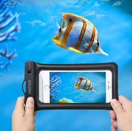 Wholesale Inflatable Mobile Phone - Inflatable Waterproof Pouch Mobile Phone Bags 30M Underwater Dry Case Cover For iphone X 5 5S 6 6S 7 8 Plus for Samsung S8