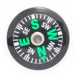 Wholesale Wholesale Mini Compasses - OPP Bag 20mm Diameter Button Mini Compass Plastic Mini Button Size Compass Pocket Compass For Hiking Camping Outdoor Sports