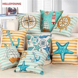 Wholesale Marine Supplies - BZ053 Luxury Cushion Cover Pillow Case Home Textiles supplies Lumbar Pillow Marine life decorative throw pillows chair seat