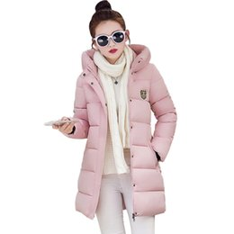 Wholesale Green Hooded Womens Parka - 10 Color New Winter Down Cotton Jacket Female Plus Size Womens Hooded Slim Thick Parkas For Women Winter winterjas dames YT192