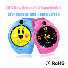 Wholesale Touch Waterproof Gps - 2017 New Arrival Kids Smart Watches with Camera GPS Location Child Touch Screen Waterproof Smartwatch SOS Anti-Lost Monitor Baby Wristwatch