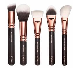 Wholesale Makeup Brush Set 15 - 2017 High quality Z O E V A MAKEUP BRUSH SET Professional Luxury Set Make Up Tools Kit 15 PCS ROSE GOLDEN Powder Blending brushes free ship
