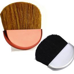 Argentina pincel nuevo color solo para elegir el color del pincel plano manija de plástico con el elemento de promtion de pelo de cabra para su compañía de maquillaje Suministro