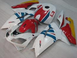 Aprilia rs 125 carenagem completa on-line-Carroçaria RS 125 2006 Kits Full Body para Aprilia RS125 2008 Branco Vermelho Plástico Fairings 2009 2006 - 2011
