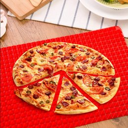 Wholesale Silicone Pizza Mould - DHL Red Pyramid Bakeware Pan Nonstick Silicone Baking Mats Pads Moulds Cooking Mat Oven Baking Tray Sheet Kitchen Tools