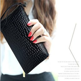 Wholesale Envelope Bag Clutch Fashion Vintage - New Vintage Handbags Women bags European styleFashion trendy crocodile pattern Fashion Bags Clutch Bags handbag wallet