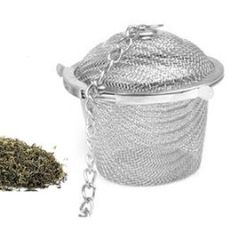 Wholesale Wholesale Teapots Accessories - New Tea Infuser Stainless Steel Pot Set Infuser Sphere Mesh Tea Strainer Handle Ball Teapot Accessories 15y